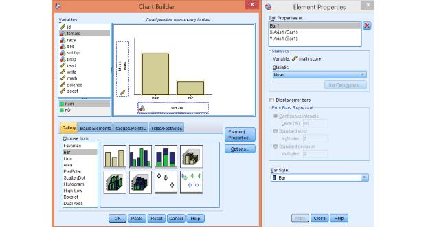 Vẽ đồ thị thanh (Bar chart, clustered chart) với SPSS