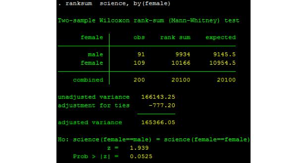 Kiểm định Wilcoxon-Mann-Whitney về sự bằng nhau của trung bình 2 mẫu