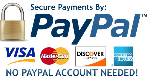 Hướng dẫn thanh toán trong quốc tế qua thẻ Visa, Master hoặc PayPal - được bảo mật hoàn toàn bởi PayPal