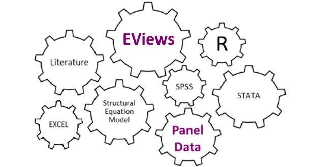 Ví dụ ước lượng dữ liệu bảng trên Eviews từ nhập số liệu, khai báo dữ liệu bảng, ước lượng OLS, Fixed Effects, Random effects và lựa chọn OLS - FE, FE - RE.